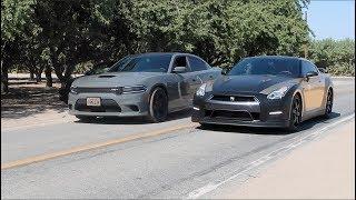 Download Dodge HELLCAT vs Nissan GTR Video
