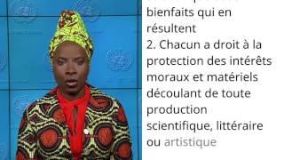 Download UDHR French (Français) Article 27 Angelique Kidjo Video