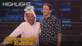 Download Samuel Comroe Judges Mel B As She Fails Epically At Stand-Up Comedy - America's Got Talent 2018 Video