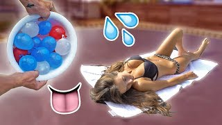 Download WATER BALLOON PRANK ON NAKED GIRLFRIEND! Video