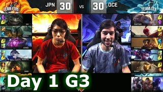 Download Japan vs Oceania | 2016 LoL IWC All-Stars in Barcelona Group Stage Day 1 | FIRE vs ICE Video