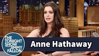 Download Anne Hathaway Almost Killed Her Kid on a Jungle Gym Slide Video