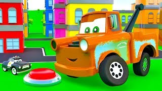 Download Super Mater helps cars. Giant Mater, Sheriff, King. The SUPER Tow Truck for kids. Super Toys cars 3 Video