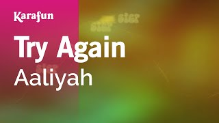 Download Karaoke Try Again - Aaliyah * Video