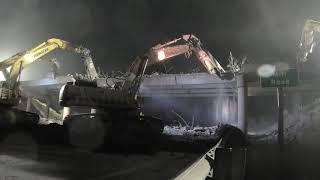 Download WATCH THIS - Overnight Bridge Demolition - We gotter done. Video