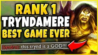 Download RANK 1 TRYNDAMERE'S GREATEST GAME OF HIS LIFE! (CHALLENGER 1V9 CARRY) - League of Legends Video
