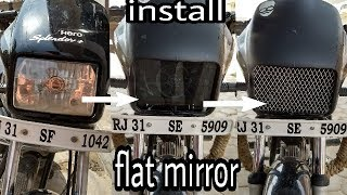 Download how to install flat mirror & flat mirror with chorme in splendor + must watch Video