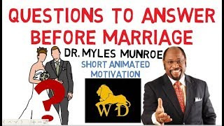Download PRE-MARRIAGE TEST QUESTIONS by Dr Myles Munroe (Very Funny Must Watch) Video