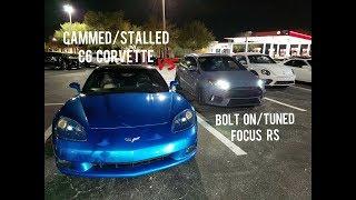Download 2018 Mustang 5.0 vs Ford Focus RS vs C6 Corvette + Nitrous C4 Corvette Video