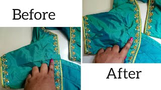 Download How to fill the space on the shoulder part of a stitched aari work blouse ? Video