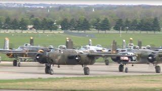 Download Eleven B-25 Mitchells Land For Doolittle Raid 75th Anniversary - Dayton, OH Video