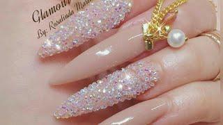 Download uñas acrílicas Nude canela con cristal pixie con un toque elegante!! Video