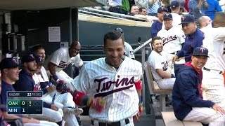Download Rosario hits a homer in first career at-bat Video