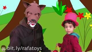Download CHAPEUZINHO VERMELHO E O LOBO MAU - História Infantil (BRINCANDO com PAPAI) - Rafa Toys and Fun Video
