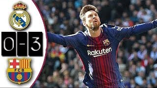 Download Real Madrid 0-3 Barcelona | Full Match | Partido Completo | Liga 2017/2018 Video