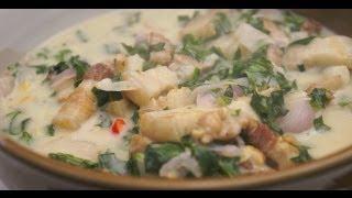 Download Paano magluto Ginataang Dahon ng Gabe Baboy recipe Pork Yam leaves Pinoy Filipino Tagalog Video