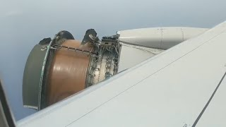 Download Engine on United Airlines plane falls apart on flight to Hawaii Video
