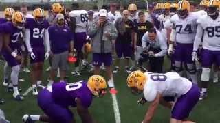 Download Big Cat Drill gets testy at LSU Video