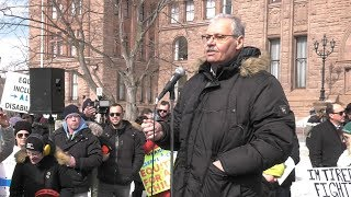 Download OPSEU joins rally against changes to autism program Video