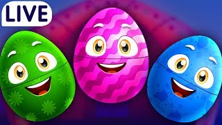 Download ChuChuTV Surprise Eggs Old MacDonald Had A Farm - Farm Animals, Wild Animals & More for Kids - LIVE Video