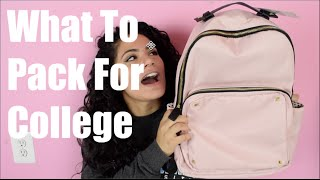 Download WHAT TO PACK FOR COLLEGE   Packing List Video