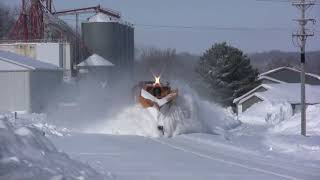 Download Train Snow Plowing Action in Minnesota Video