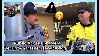 Download Security harasses service dog handler //one Tigris review Video