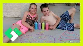Download PUFFY PAINT SIDEWALK CHALK (Day 1523) | Clintus.tv Video
