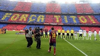 Download Camp Nou comes alive with El Clásico mosaics Video