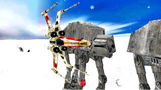 Download Star Wars Battlefront 2 Mods/Maps #76 [Hoth: Escape] Video
