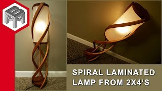 Download Laminated Cedar Spiral Lamp from Two 2x4's Video