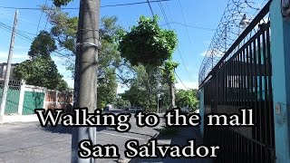 Download San Salvador, El Salvador - Walking to the Mall Video
