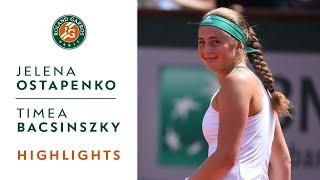 Download Jelena Ostapenko v Timea Bacsinszky Highlights - Women's Semi-Final 2017 | Roland-Garros Video