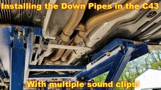 Download AMG Perf Exhaust setup and Weistec C43 Downpipes Installed! Video
