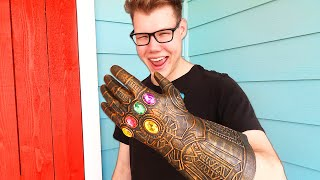 Download I stole the THANOS Infinity Gauntlet IN REAL LIFE!! (Avengers: Endgame) Video