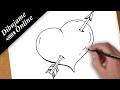 Download como dibujar un corazon con una flecha | como dibujar un corazon con una flecha paso a paso Video
