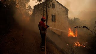 Download Thousands flee as new wildfire hits southern France Video