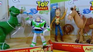 Download Toy Story Juguetes de Andy Woody con Bullseye y Buzz Lightyear con Rex - Juguetes de Disney Video