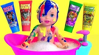 Download Little Mommy Bubbly Bathtime Color Changing Baby Doll with Bath Paint Paw Patrol by Disney Collector Video