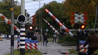 Download Man raakt opgesloten tussen de spoorbomen op station Driebergen-Zeist Video