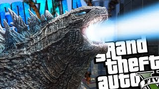Download NEW Godzilla: King of the Monsters MOD (GTA 5 PC Mods Gameplay) Video