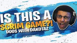 Download WAIT... THIS IS A SCRIM?! DUOS W/ DAKOTAZ (Fortnite BR Full Match) Video