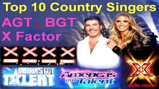 Download Top 10 Amazing Country Singers (AGT) (BGT) Best Got Talent & X Factor Auditions Worldwide Video