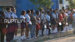 Download Cuba: Thousands line streets as Castro's ashes interred privately in Santiago Video