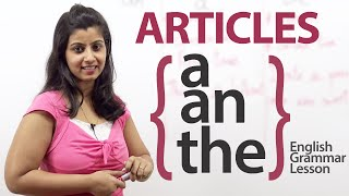Download Articles - a, an & the - English Grammar lesson Video