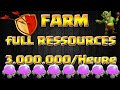 Download Clash Of Clan : FULL RESSOURCES EN 2H FARM 2016 / HDV10 Video