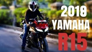 yamaha r15 v3 modified with double bubble visior Free