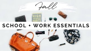 Download School Survival | WHATS IN MY BAG FOR FALL | Backpack + Work Bag Essentials Video