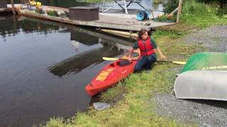 Download Getting in and out of a kayak Video