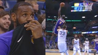 Download LeBron James Tries Not To Laugh At Lance Stephenson's Dunk Fail On Marc Gasol! Lakers vs Grizzlies Video